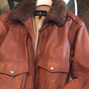 Leather Bomber Jacket  Ralph Lauren